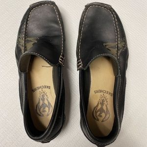 Skechers Loafers Slip On Shoes Brown Leather US 7